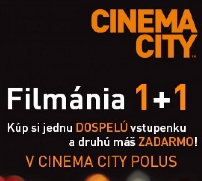 c841149c1 Filmánia v Cinema City 1+1 vstupenka zdarma | Zlacnene.sk