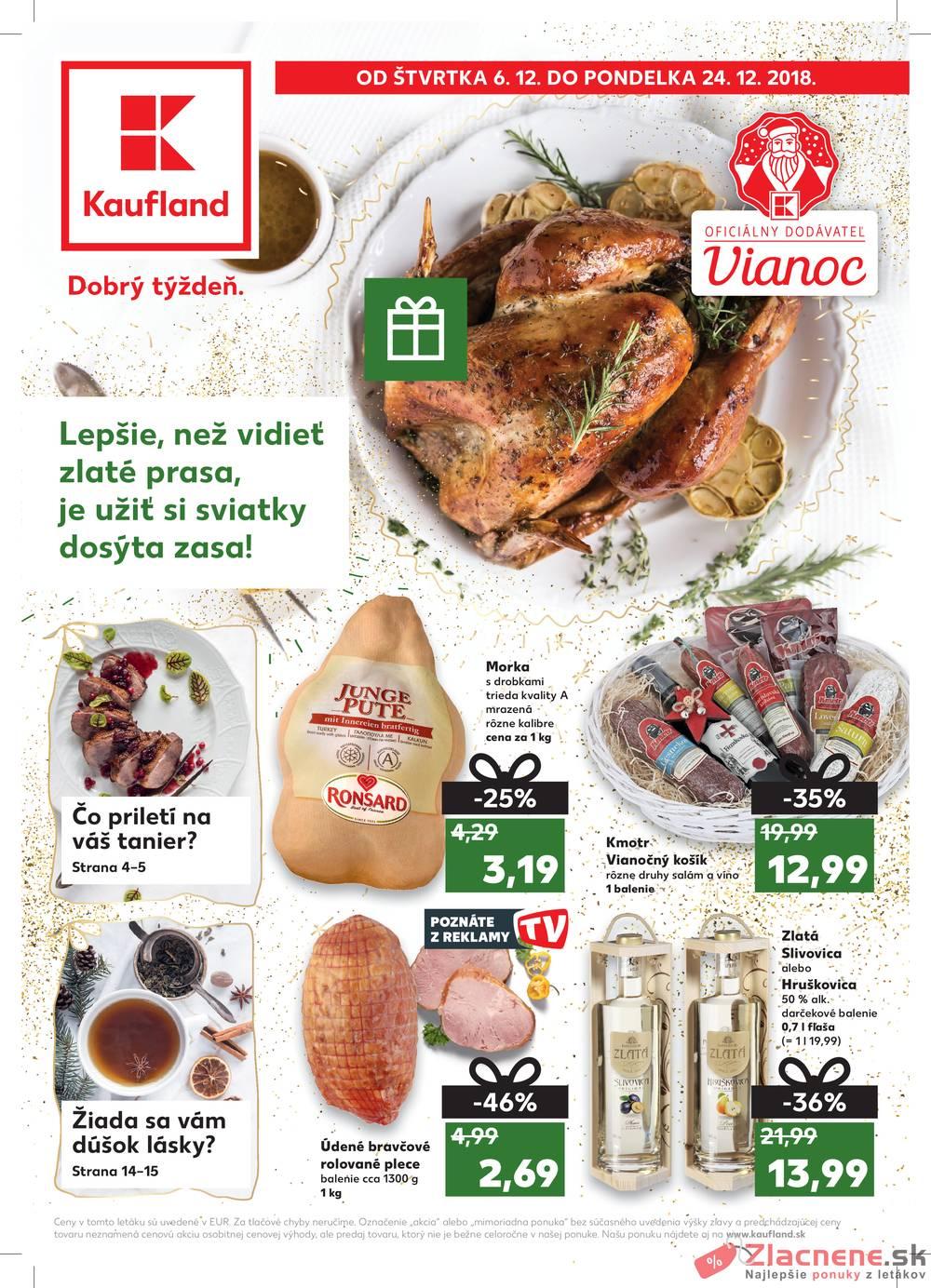 Leták Kaufland - Kaufland speciál všechny pobočky 6.12. - 24.12. - strana 1