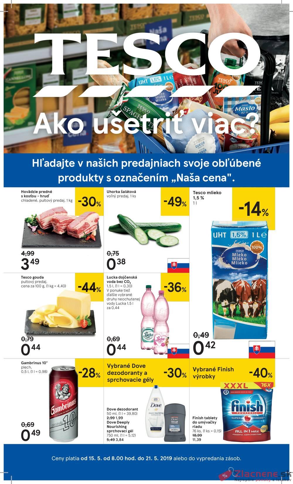 Leták Tesco - Tesco veľké hypermarkety od 15.5. do 21.5.2019 - strana 1