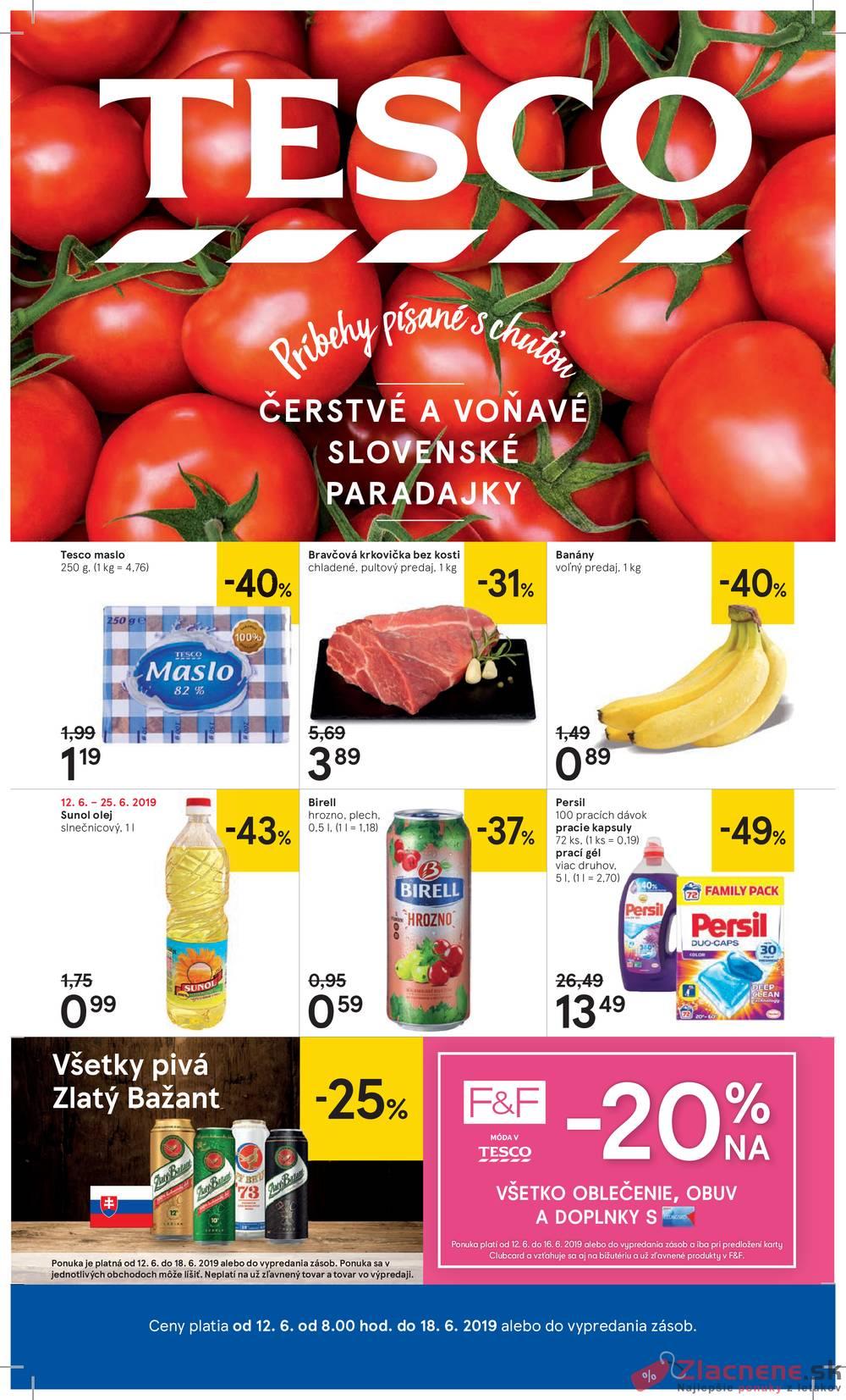 Leták Tesco - Tesco veľké hypermarkety od 12.6. do 18.6.2019 - strana 1