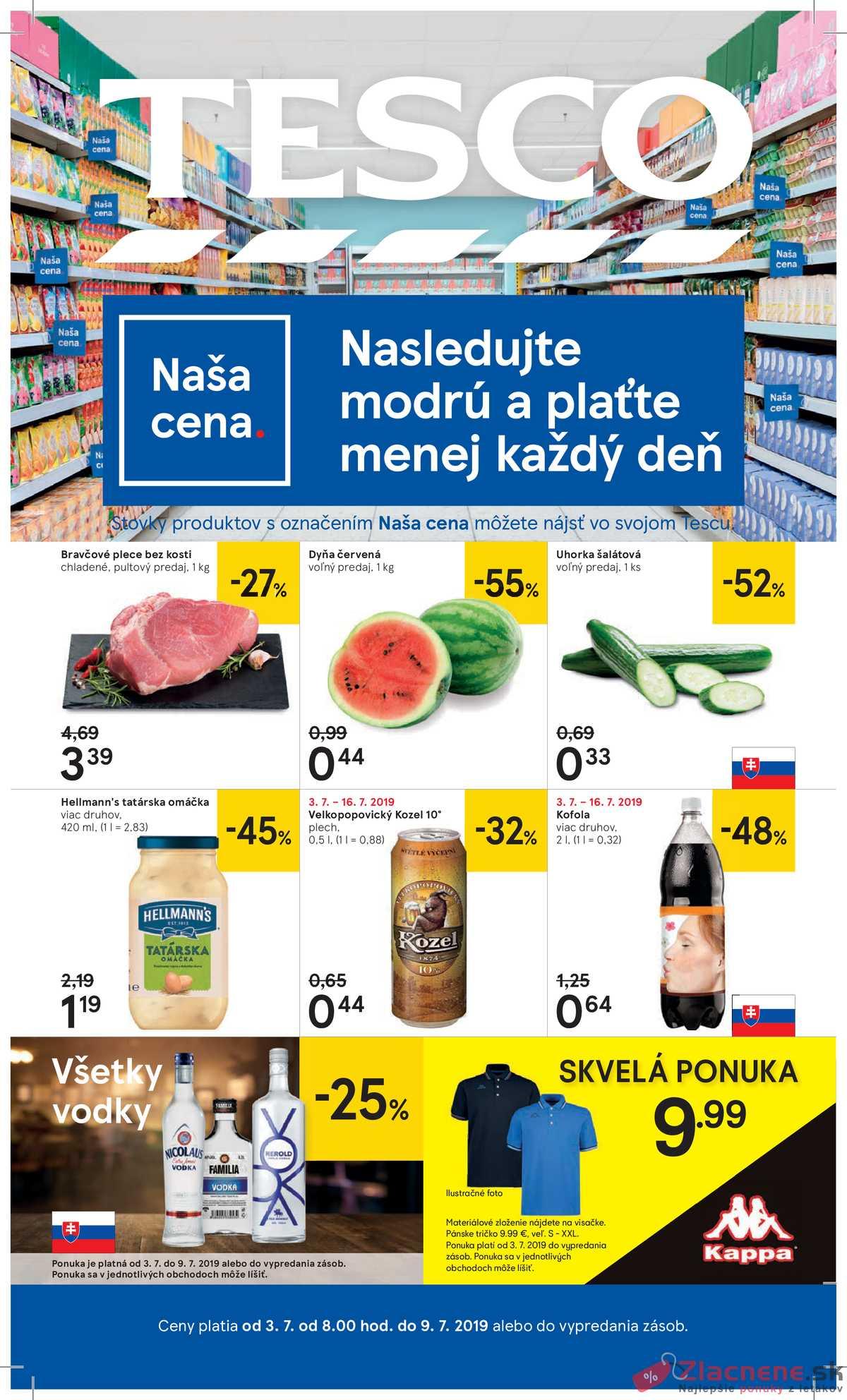 631f79b401cab Leták Tesco - Tesco veľké hypermarkety od 3.7. do 9.7.2019 - strana 1