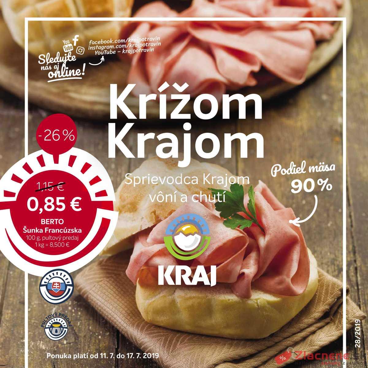 Leták Kraj - Kraj od 11.7. do 17.7.2019 - strana 1