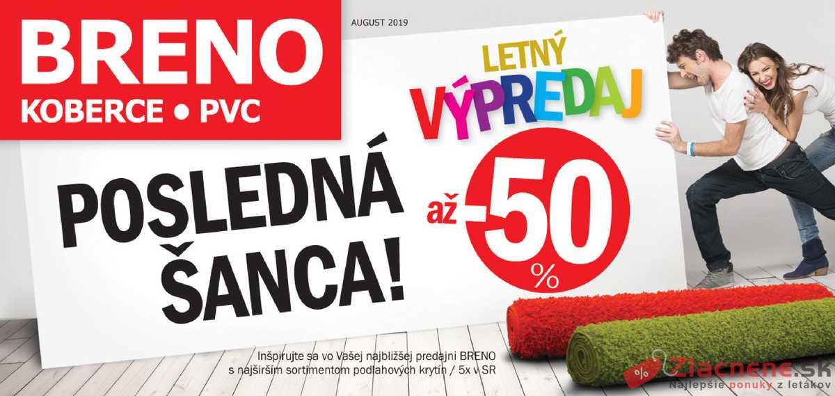 Leták Koberce Breno - Koberce Breno 1.8. - 31.8. - strana 1