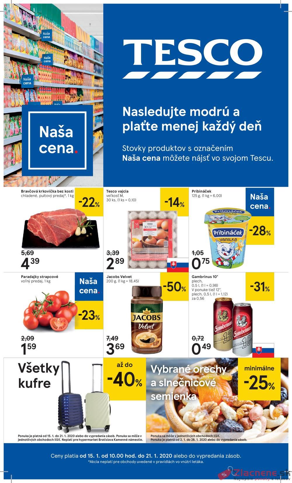 Leták Tesco - Tesco malé hypermarkety od 15.1. do 21.1.2020 - strana 1