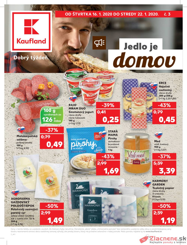 Leták Kaufland - Kaufland 16.1. - 22.1. - Kaufland Skalica - Mallého - strana 1