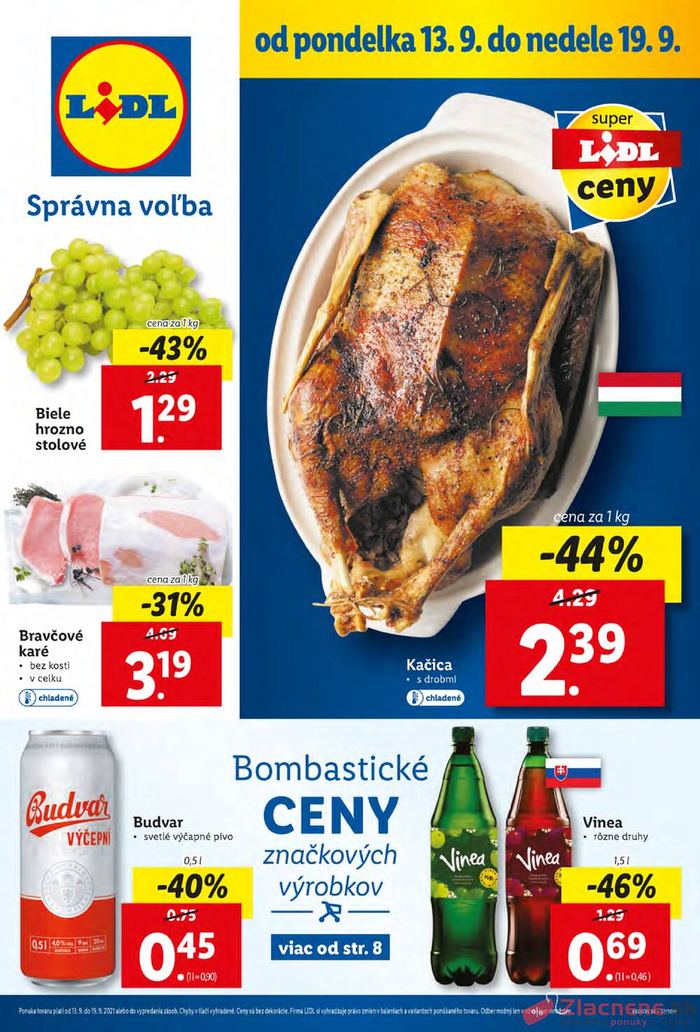 Leták Lidl - Lidl od 13.9. do 19.9.2021 - strana 1