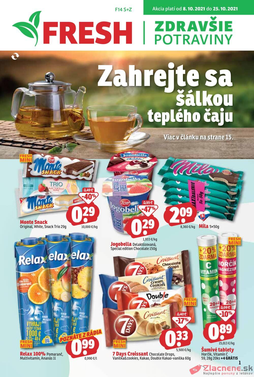 Leták Fresh - Fresh od 8.10. do 25.10.2021 - strana 1