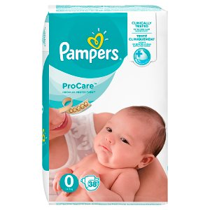 Pampers Procare Premium Protection, 38 Plienok