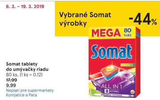 Somat tablety do umývačky riadu 80 ks