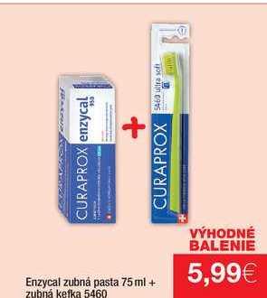 enzycal zubná pasta 75 ml + zubná kefka 5460