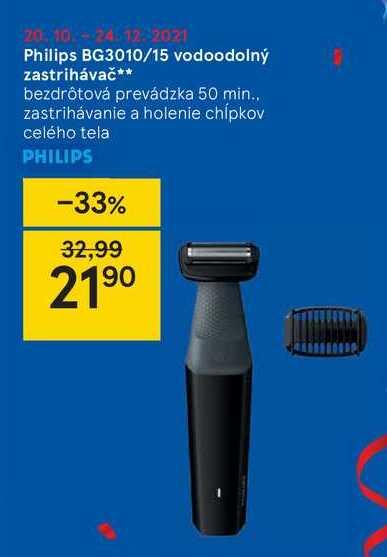Philips BG3010/15 vodoodolný zastrihávač